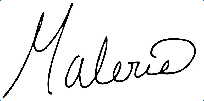 malerie signature
